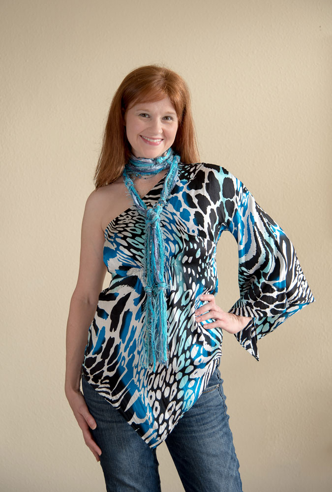 skinny scarf: blue color