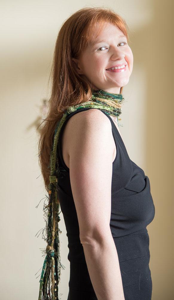 skinny scarf, green scarf